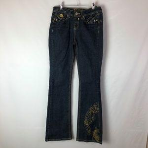 Dereon women's dark bootcut jeans size 3/4